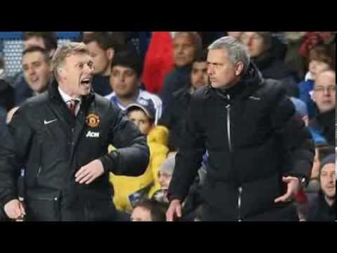 José Mourinho rings David Moyes after Chelsea beat Man Utd.