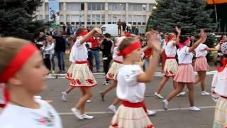 Шествие в вышиванках на День семьи в Рубежном