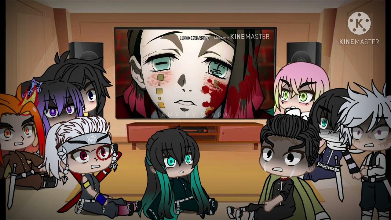 Demon slayer hashira's react to tanjiro || part 1/5 (no intro) read desc. Hashiras React To Tanjiro and Nezuko's Journey Edits ...
