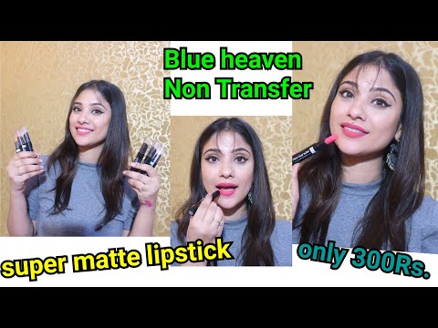 Blue Heaven Non Transfer matte Lipstick || only 300Rs..