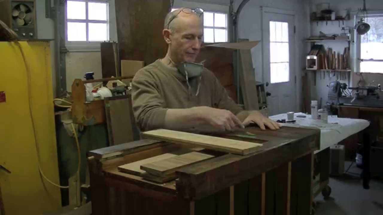 Repairing Buckled Veneer - Thomas Johnson Antique Furniture Restoration -  YouTube - Repairing Buckled Veneer - Thomas Johnson Antique Furniture