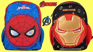 AVENGERS Ironman & Spiderman Back to School Back Pack Surprises & Supplies