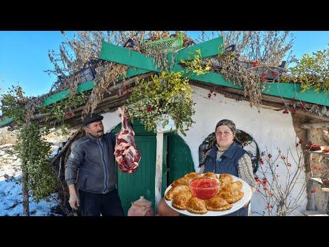 Mal Ətindən Çeburek, Country Life Vlog, Food Blog