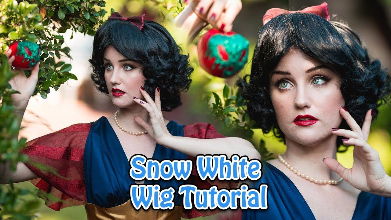 Snow white wig tutorial youtube.
