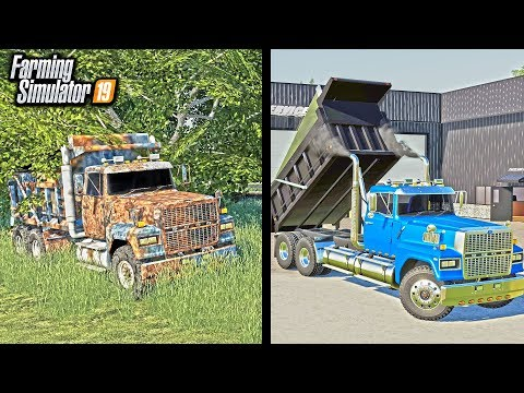 RUSTY DUMP TRUCK RESTORATION! (SITTING FOR 20 YEARS) | FARMING SIMULATOR 2019