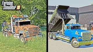 rUSTY DUMP TRUCK RESTORATION! (SITTING FOR 20 YEARS)  FARMING SIMULATOR 2019