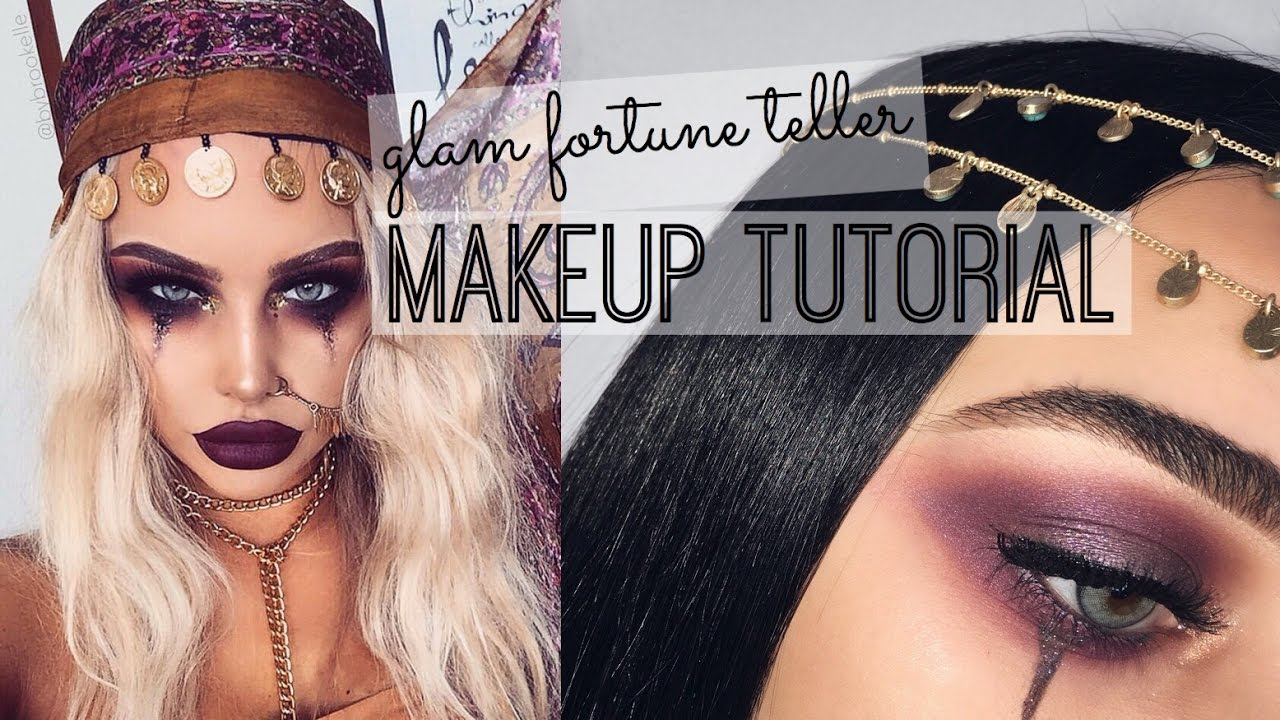 Halloween Fortune Teller Makeup.Glam Fortune Teller Halloween Tutorial Inspired Bybrookelle