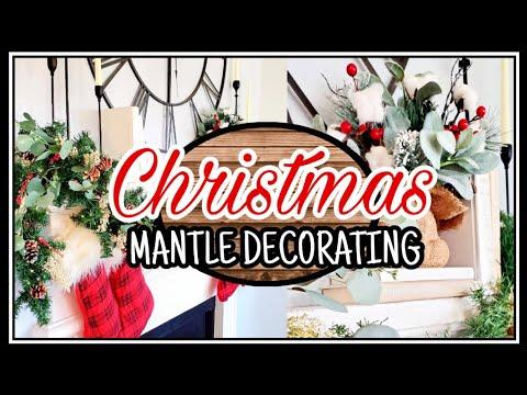 Christmas Mantle Decorating Ideas | Christmas Decor 2019