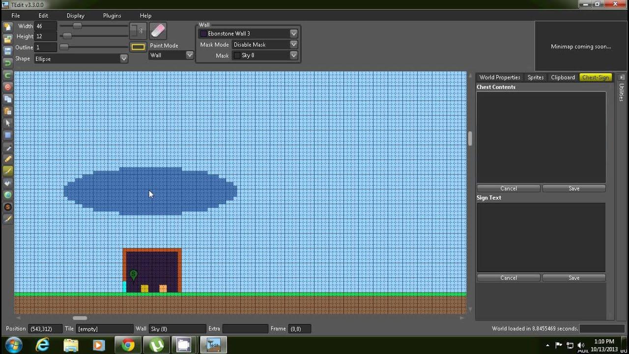 How to make custom terraria world using tedit downloads provided (XBOX/PC)