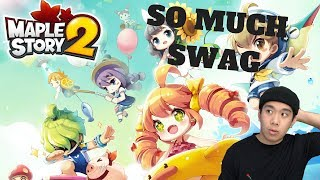 SO MUCH SWAG - MAPLESTORY 2 CLOSED BETA 2 (PC) Live Stream and More