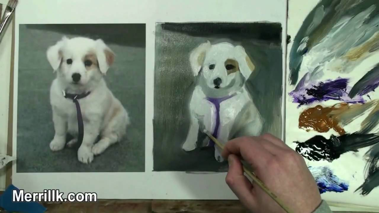 Learn Oil Painting 12 How To Paint A Puppy Dog Youtube