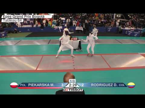FE F E Individual Bogota COL Grand Prix 2017 T64 03 red PIEKARSKA POL vs RODRIGUEZ COL