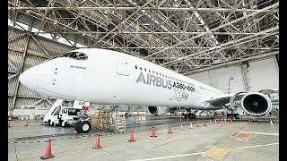 エアバス最新鋭機「A350-1000」日本初飛来=366席、1万4800キロ航続