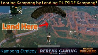 Kampong Loot Strategy on Sanhok Involves Dropping OUTSIDE Kampong? | PUBG Mobile with DerekG