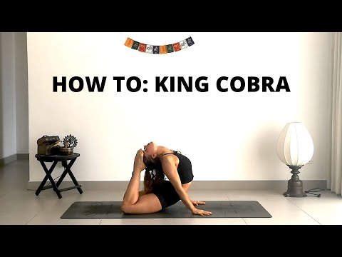 How to do King Cobra pose (Raja Bujangasana) Tutorial