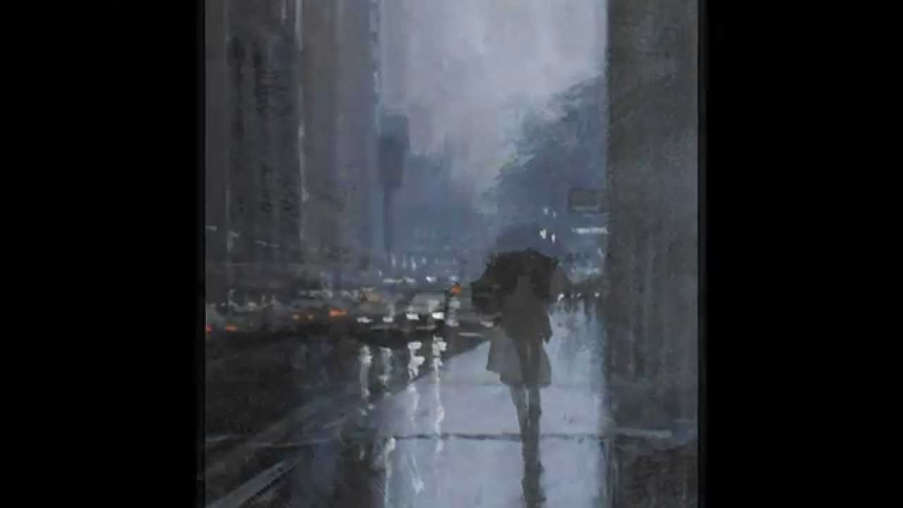 rainy day demonstration painting mike barr acrylic