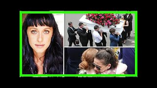 Grieving Home And Away cast members bid farewell to actress Jessica Falkholt at funeral