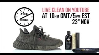 Watch Live: Crep Protect cure Cleaning Yeezy Boost 350 V2 red - extreme test