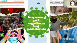 #VK21 Vojo al paco kaj konfido: egaleco dum pandemio (L.França, D.L.Rueda, R.Lima, S.Alvarez)