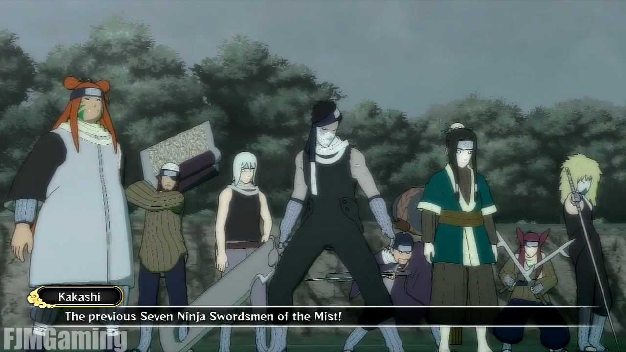 Seven ninja swordsmen of the mist vs kakashi