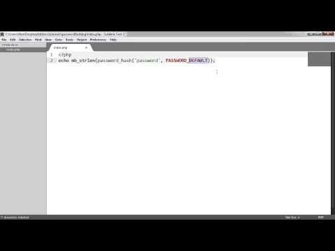 Secure PHP Password Hashing: Hashing Passwords