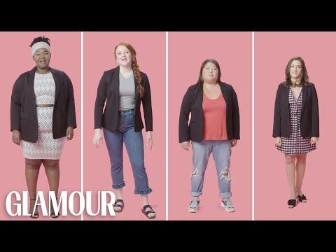 Women Sizes 0 to 28 Try On the Same Blazer | Glamour