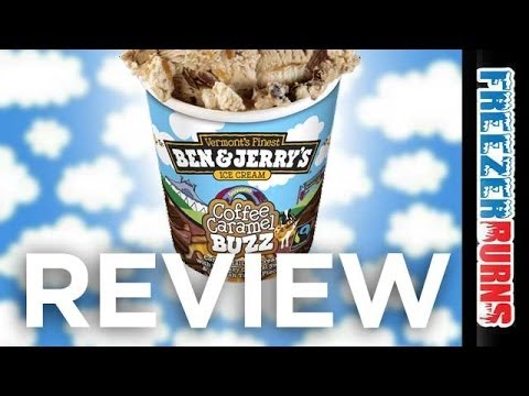 FREE CONE DAY! Ben and Jerry's Coffee Caramel Buzz Ice Cream Video Review: Freezerburns (Ep638)