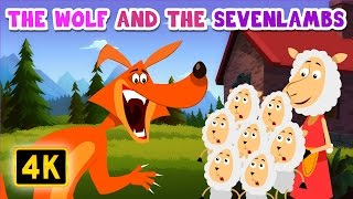 A Wolf and the Seven Lambs | Bedtime Stories | English Stories for Kids and Childrens