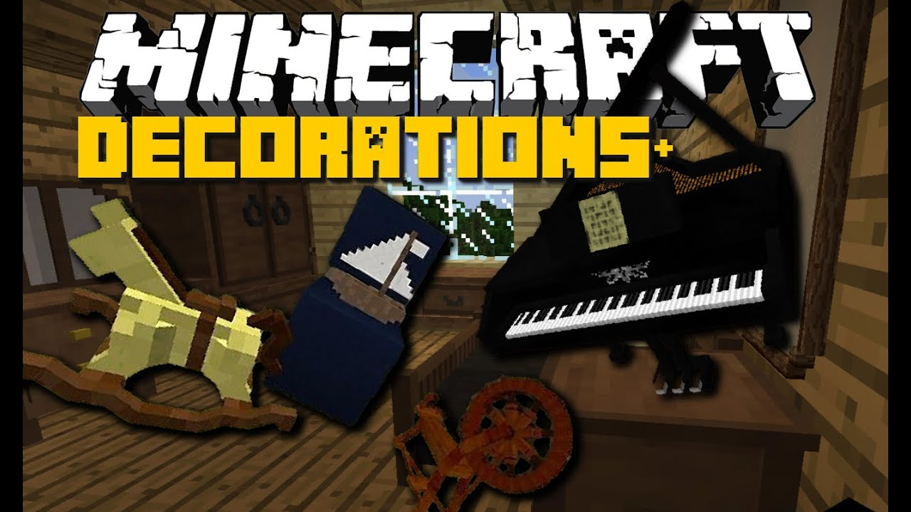 Minecraft: DECORATIONS+ MOD (Piano, Kitchen, Toys & More ...