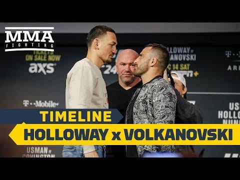 UFC 245 Timeline: Max Holloway Vs. Alexander Volkanovski - MMA Fighting