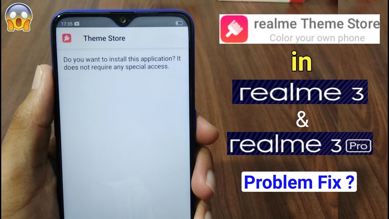 How to Download Realme Official Theme Store in Realme 3 & 3 Pro (Install  Problem)