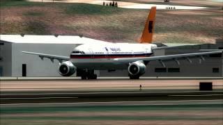 Airbus A300 Hapag LLoyd landing at Gran Canaria 1993 [FS9]