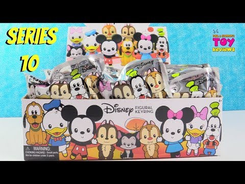 Disney Series 10 Figural Keyring Full Box Blind Bag Toy Review Opening | PSToyReviews