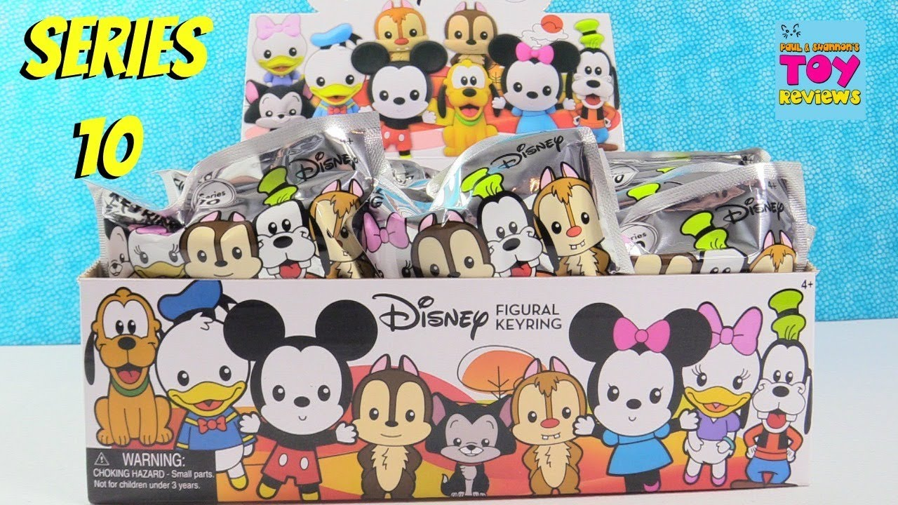 Disney Series 10 Figural Keyring Full Box Blind Bag Toy