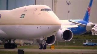 NEW SAUDIA CARGO 747-8F Startup to Takeoff
