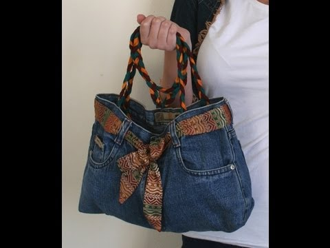 DIY Fashion Jeans BAG ( recycled denim) DIY Bag Vol 1A