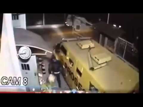 Caught On Camera Armed Robbers Steal Millions In Cash From Armored Car New Video