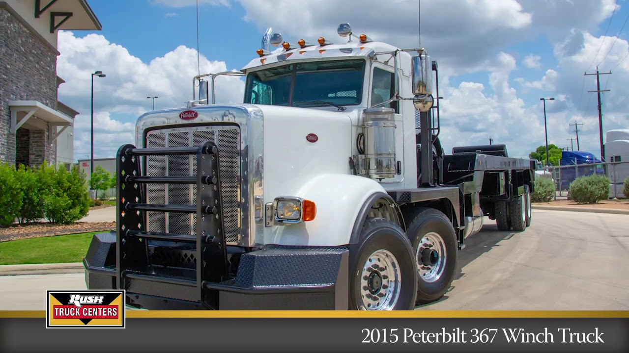 2015 Peterbilt Tandem Steer 367 Oilfield Winch Truck