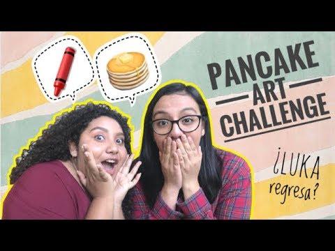 PANCAKE ART CHALLENGE   LuKa regresa?   Karen C.