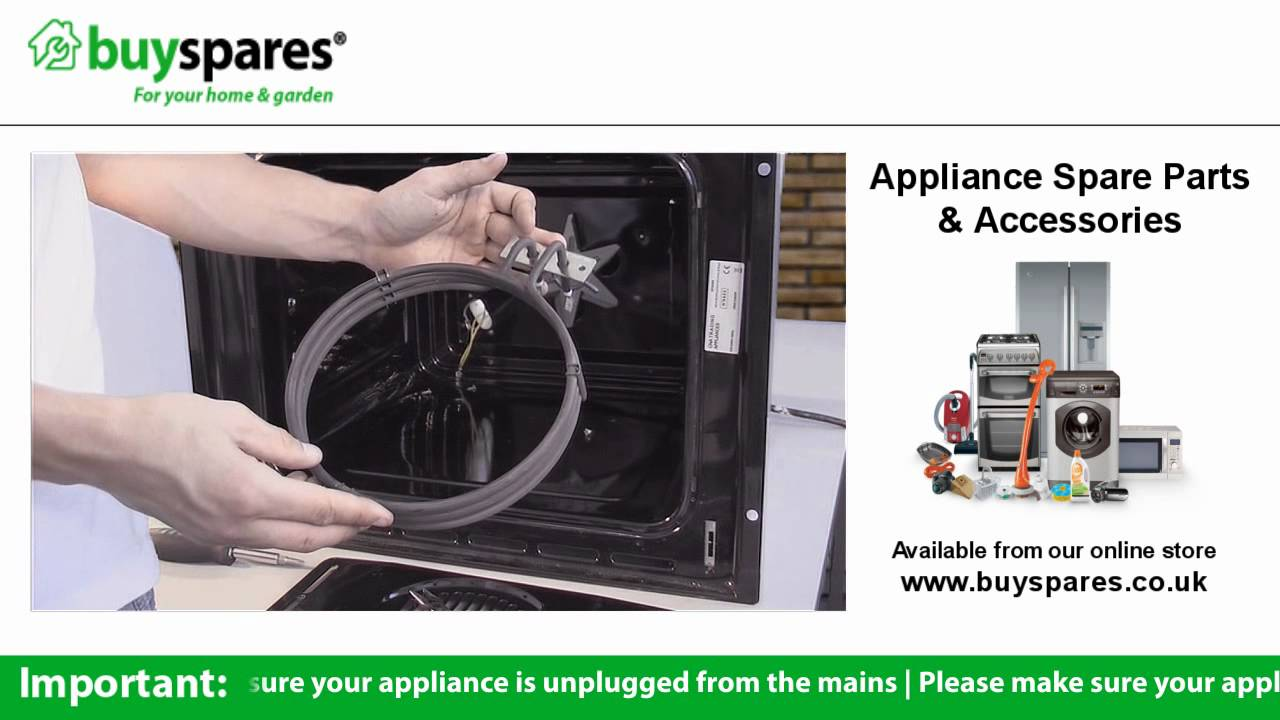 Wall Oven Wiring Diagram How To Replace The Element In A Fan Oven Youtube