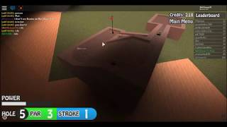 I'M BACK!!!! - ROBLOX Mini Golf!!!! I love going out of bounds....
