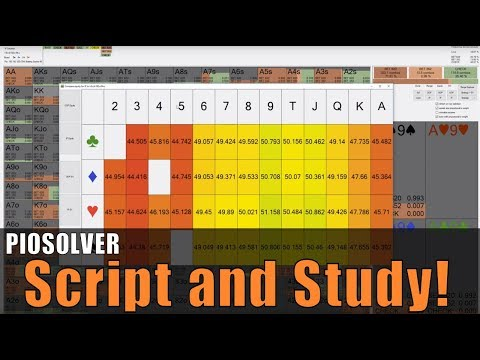 PioSOLVER Poker Tutorial - How To Run A Script