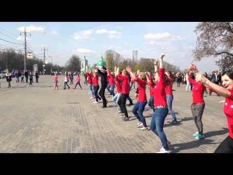 Флешмоб на Воробьевых горах. СТО танцует