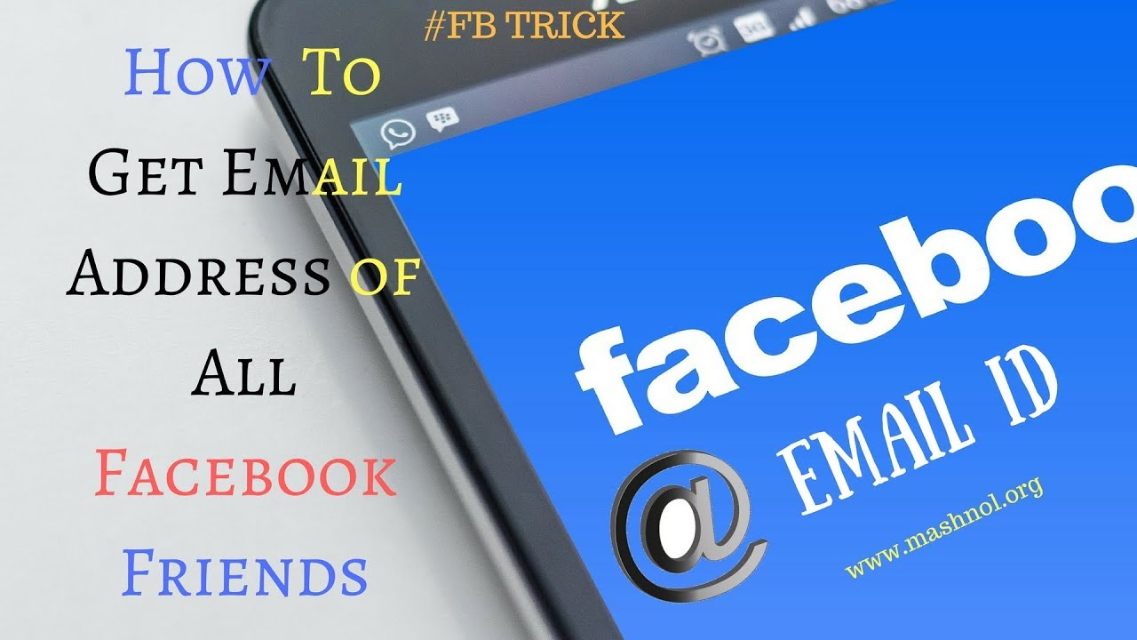 How To Export Email Addresses of All FACEBOOK Friends - 2018