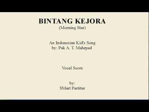 Notasi Lagu | BINTANG KEJORA – Lagu  Anak Indonesia