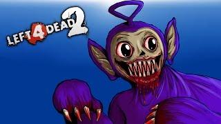 Left 4 Dead 2 - Raptors VS Teletubbies! (Mods) Part 2 of 2