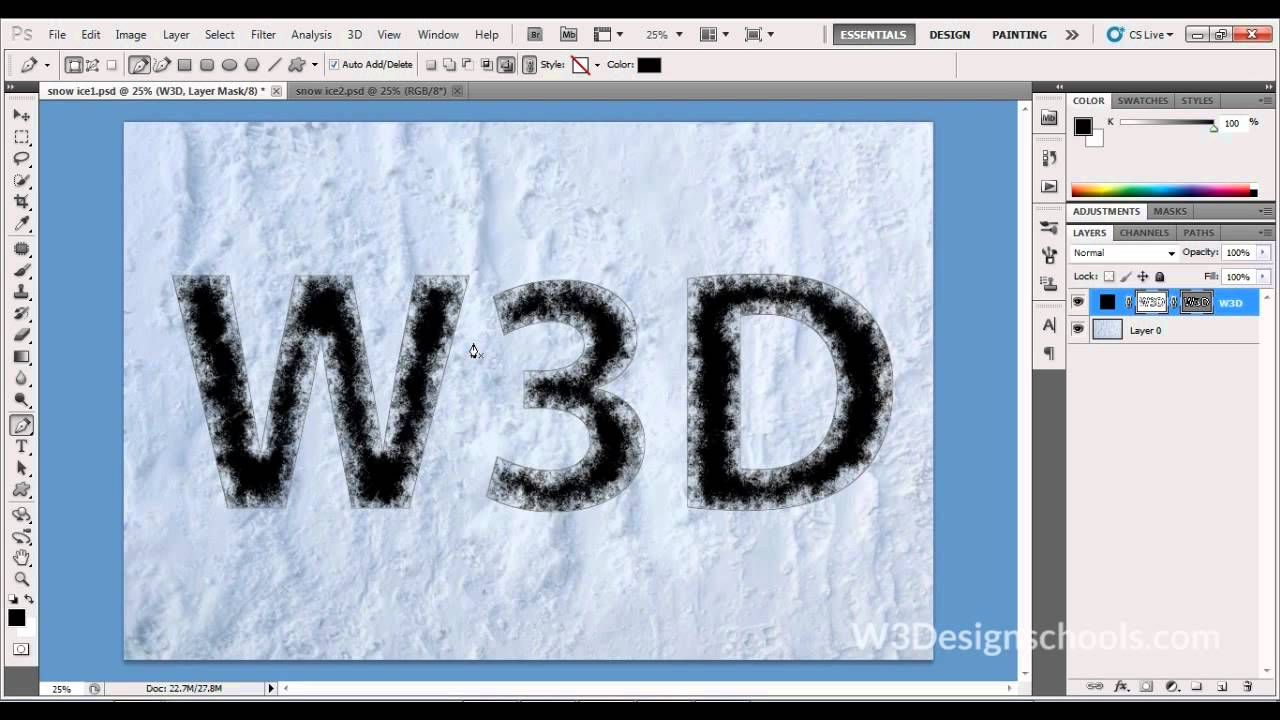 How to create animated snow photoshop tutorial youtube.