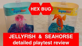 HexBug Jellyfish & Seahorse - Detailed play-test review & Buoyancy control demo