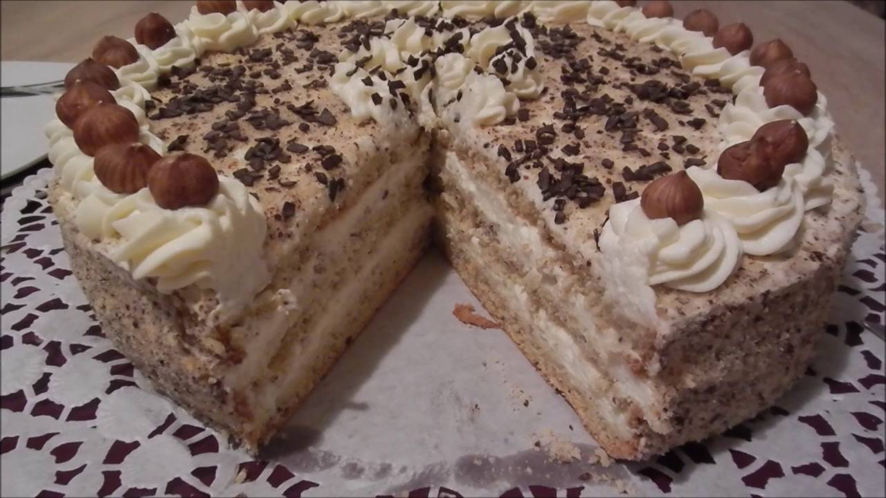 Haselnuss Creme Torte Youtube