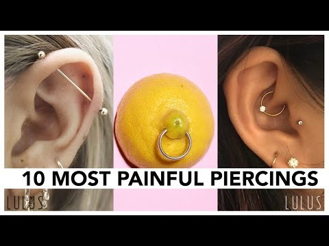 Top 10 Most Painful Piercings!!